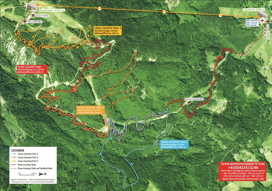 mountainbike streckenplan